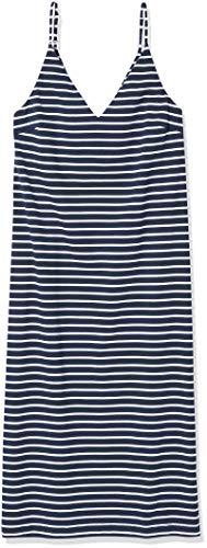 Seafolly Damen Vacay Cotton Maxi Tank Dress Bademodeüberzug, Beach Editiert Weiß Marineblau, X-Groß