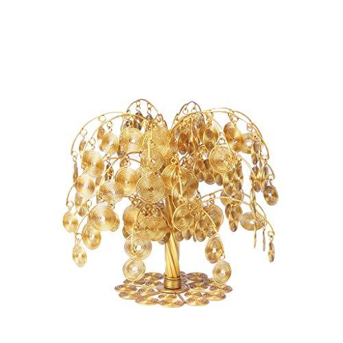 NYKK Ornamento de Escritorio Feng Shui Monedas de Oro Dinero Fortune árbol Bonsai Hogar y decoración de la Oficina abundancia Que bendice Regalo artesanías decoración (tamaño : S)
