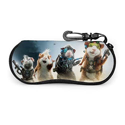 Película G-F-orce - Estuche portátil con cremallera para gafas de sol con llavero, unisex, duradero, ligero, impreso en 3D personalizado