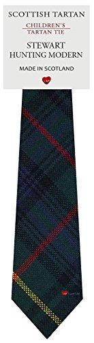 I Luv Ltd Garçon Tout Cravate en Laine Tissé et Fabriqué en Ecosse à Stewart Hunting Modern Tartan