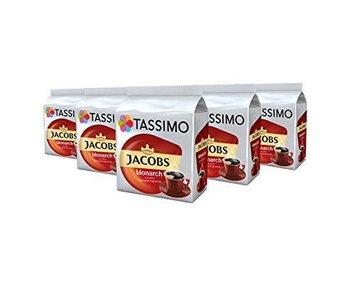 TASSIMO Jacobs Monarch Kaffee Kapseln Refills Pods T Discs 5er Pack, 80 Getränke