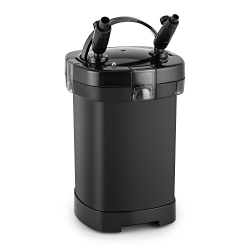 Waldbeck Clearflow 14 Filtro Exterior para Acuario - Motor de 14 W, Filtro de 4 Niveles, Caudal de hasta 1000 l/h, para estanques de hasta 400L de Capacidad, Bajo Consumo, Fácil de Limpiar