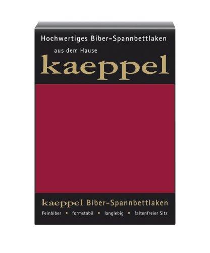 Kaeppel L-016745-48L3-UAKB Biber Spannbettlaken 200 x 200 cm, Farbe: Karmin