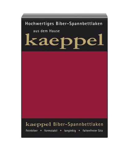 Kaeppel L-016745-48L1-UAKB Biber Spannbettlaken 100 x 200 cm, Farbe: Karmin