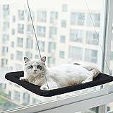 HENGBIRD Hamaca para gatos con ventosa, hamaca para gatos desmontable y fácil de limpiar