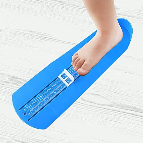 Augproveshak Fußlineal Für Kinder Erwachsene, Familie Fußmessgerät Schuhe Größe Fußmessgerät Helfer Messlineal Werkzeug Für Männer Frauen Zu Hause (Blau)