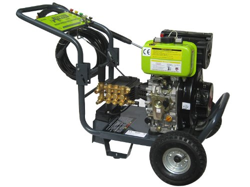 Varan Motors 93002 DIESEL HOCHDRUCKREINIGER 418CC 10PS 205BAR + ELEK START