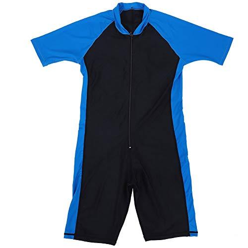 VGEBY1 Einteiliger Tauchanzug, Lycra Kurzarm Tauchanzug Schnorchel Overalls zum Schwimmen Surfen Tauchen Speerfischen(XL-Blau & Schwarz (männlich))