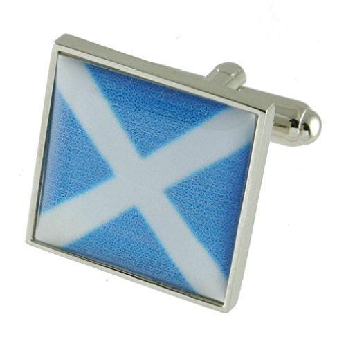 Select Gifts 925 Sterling Silber Alphabet erste Signal Flag Manschettenknöpfe Buchstabe M