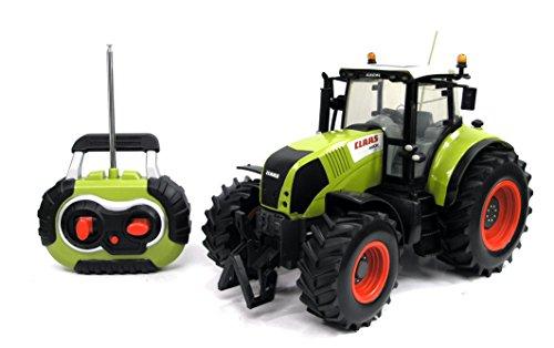 RC Auto kaufen Traktor Bild: Siva Claas Traktor Trekker Bulldog Axion 850 mit Fernsteuerung | Ferngesteuertes Fahrzeug im original Claas-Design mit Lichtfunktion vorne und hinten*