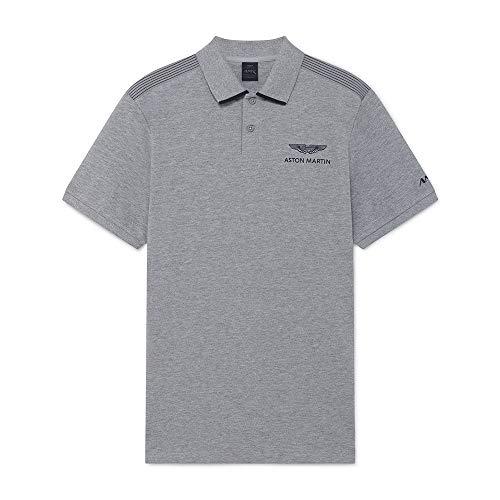 Hackett Mens AMR Tape Shoulder Polo Shirt, 933GREY Marl, L