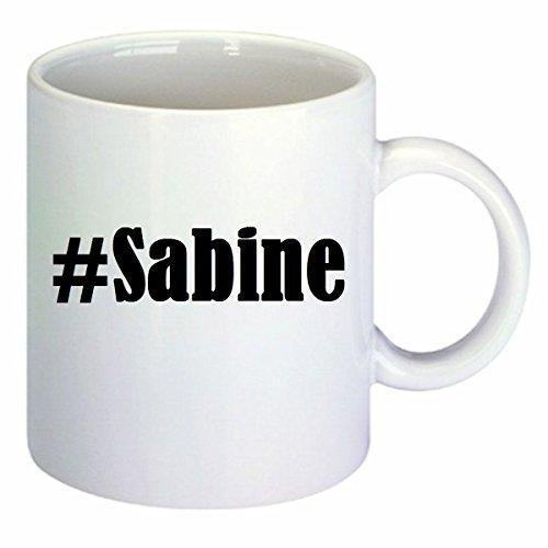 taza para café #Sabine Hashtag Raute Cerámica Altura 9.5 cm diámetro de 8 cm de Blanco