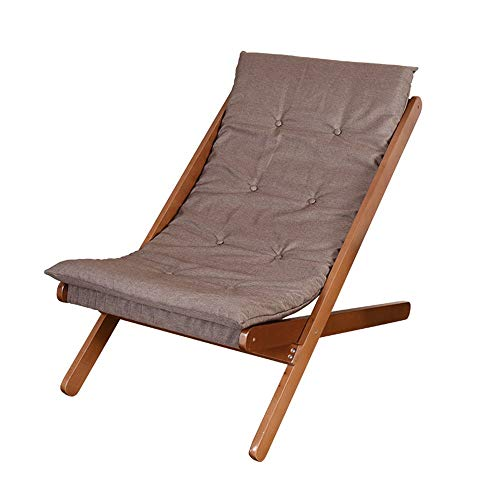 BRISEZZ Freizeit-Stuhl Massivholz Lehnstuhl Faule Stuhl Klappstuhl Hocker Siesta Stuhl (Farbe: C) HRTT (Color : A)