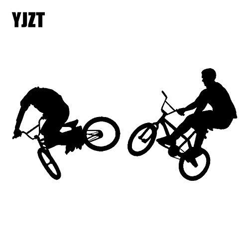 JYIP 18CM * 9CM Personalizado BMX Bicicleta Grandes Pegatinas Divertidas Motocicleta calcomanía Negro/White C31-0273-white