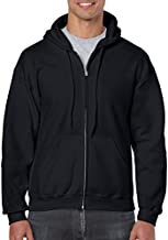 Gildan Men's Fleece Zip Hooded Sweatshirt Black X-Large