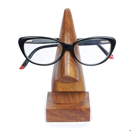 Zap Impex  ® Holz Brillen Stand - 6 Zoll hoch, Nase geformter Brille/Spectacle / Sonnenbrillen-Halter mit Platz Basis