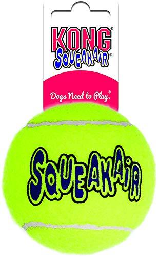KONG – Squeakair Ball – Premium-Hundespielzeug, Quietschende Tennisbälle, Zahnschonend – Für Große Hunde