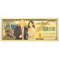 CHENTAOCS Notas Conmemorativa 24K Chapado en Oro de Billetes de dólares 10 mil Millones de Trump colección Donald Trump y la Primera Dama Fácil de Usar (Color : 10 Billion Trump)
