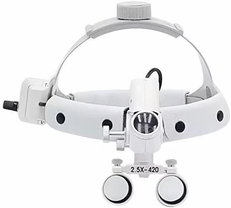 BoNew 5W LED Surgical Headlight Loupe Ligh Lowest price challenge Headband El Paso Mall Leather with