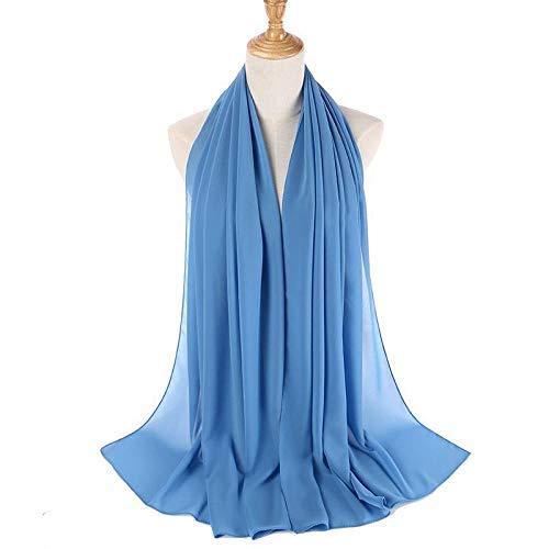 UKONG Bufandas Mujer Invierno,Señoras Elegante Bufanda Abrigo Bufandas De Punto De Seda Suave Azul Color Puro Chal De Playa Moda Ropa Al Aire Libre Regalo para Mujeres Novia Esposa Mamá
