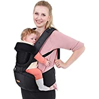 Unichart Multifunction All Seasons 6-in-1 Baby Carrier with Hip Seat