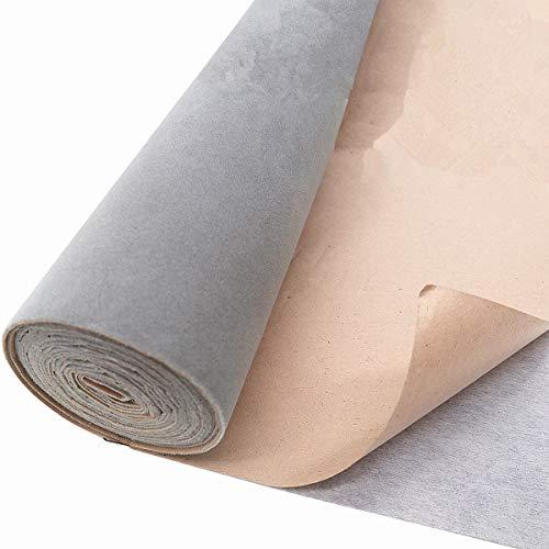 ZAIONE Rollo de papel de contacto de terciopelo, autoadhesivo, para cajón, tela,...