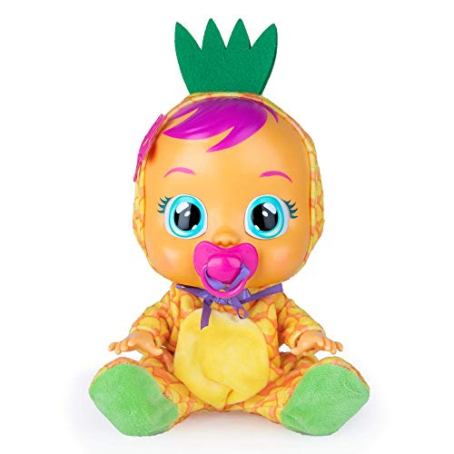 Bebés Llorones Tutti Frutti Pia - Muñeca interactiva que llora de verdad con chupete y pijama de Piña con olor a fruta