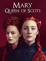 Promotional image for Mary, Queen of Scots showing Margot Robbie as Elizabeth and Saiorse Ronan as Mary, both with vibrant long red hair