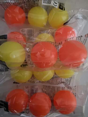 Mondo 9 Stück Softbälle Tennisball, Beach Ball Ersatzbälle ca 4,5 cm