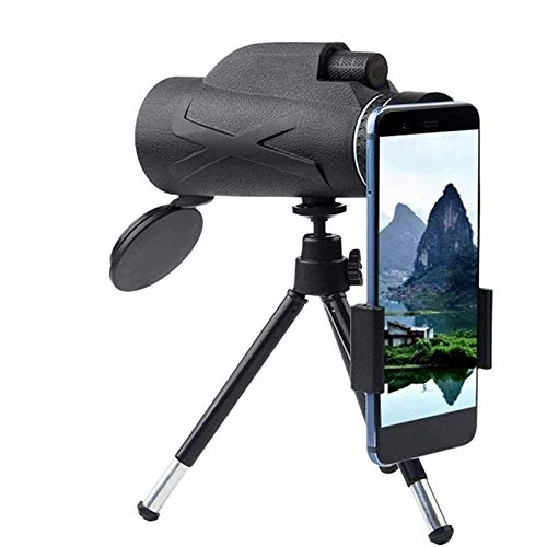 LYDIANZI HD Monoculares Impermeable 80x100 Zoom Zoom Alta definición FMC BAK4 con Soporte para teléfono Inteligente y trípode IPX7 Impermeable para Acampar Que viaja a la Caza
