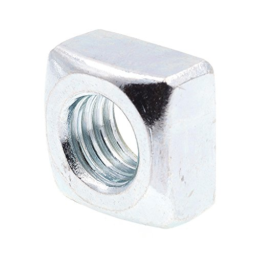 Prime-Line 9192695 Square Nuts, 1/2 in.-13, Zinc Plated Steel, 10-Pack