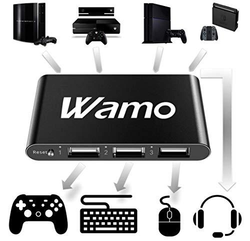 Maus und Tastatur Konverter Adapter für PS4 / PS3 / Xbox One (S / X) / Nintendo Switch mit Headset Unterstützung Support Game Controller Converter Mouse Keyboard