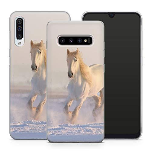 Hülle Pferde für Samsung Silikon MMM Berlin Hülle Pferd Reiter Reiterhof Horse Maultier Einhorn, Kompatibel mit Handy:Samsung Galaxy J5 (2016), Hüllendesign:Design 1 | Silikon Klar