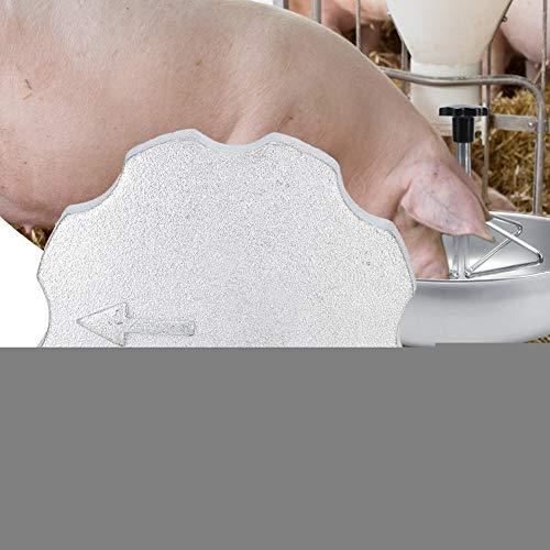 Redxiao Praktische Ferkelfütterungsausrüstung, Exquisite Verarbeitung 360-Grad-Feinmahltrog Griff Ferkelfütterungsschale, Ferkelfütterungsausrüstung Zubehör
