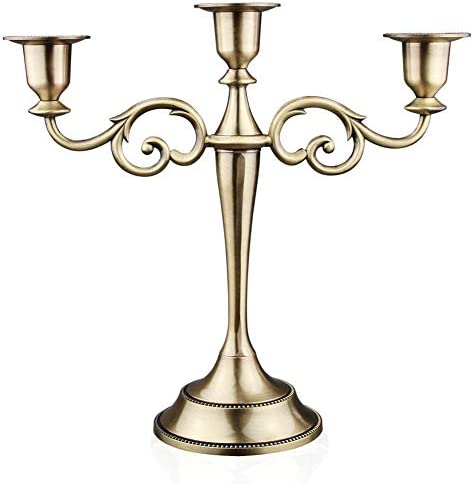 Viscacha 3 Candle Metal Candelabra Candlesticks Holder for Formal Events Wedding Church Holiday product image