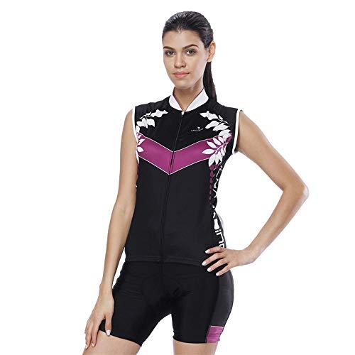 Lpfkkk 2019 Team Pro Women Maillot De Cyclisme Ensemble Sans Manches Shirt Gel Pad Shorts VTT Jersey Vélo Vélo De Course À Pied Maillot Taille: S