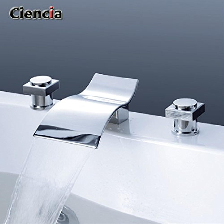 KHSKX Continental, copper, titanium, hot and cold, waterfalls, three hands, wash basin, faucet