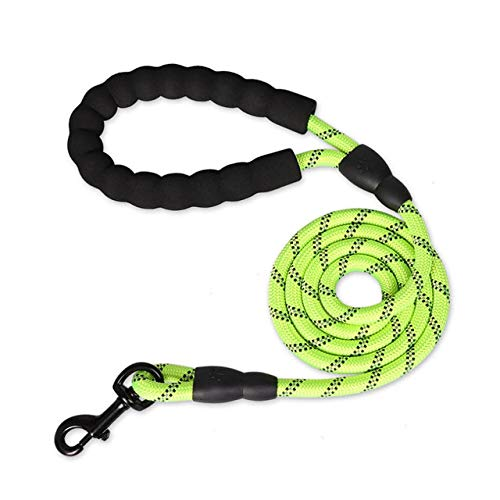 LILONGXI hondenriem, reflecterend, ronde hond traction Rope Wear, resistent, groen dog ketting, comfortabele polsband met truien, L