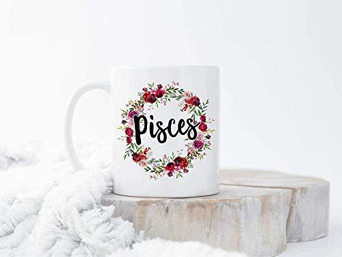 Taza de café con peces, signo del zodiaco Piscis, signo del zodiaco, Piscis, Signo del zodiaco Pis