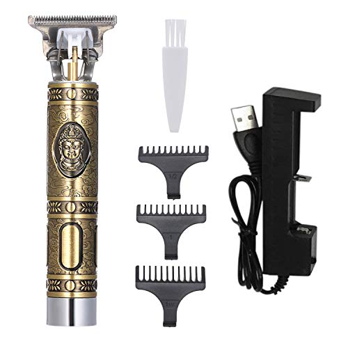 Sangmei Aparador de pêlos recarregável para máquina de cortar cabelo elétrica para homens Cortar e aparar cabelos com pente de limite e escova de limpeza