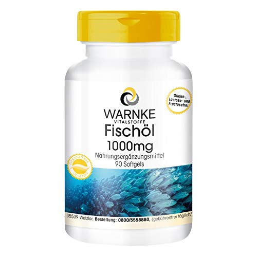 Fischöl Omega 3 Kapseln 1000mg - Omega-3-Fettsäuren (EPA und DHA) - 90 Softgels