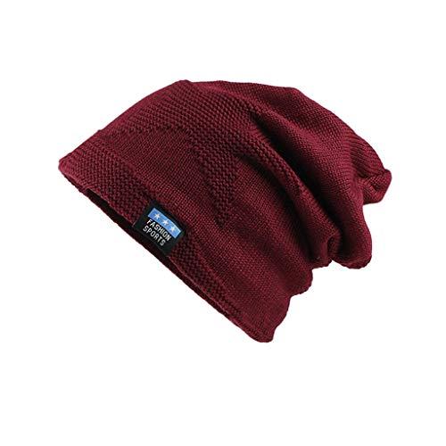 Smonke Mode Stricken Chunky Baggy Stretchy Slouchy Skully Hut Warme Mütze Herren Damen - Long Slouch Beanie Winter