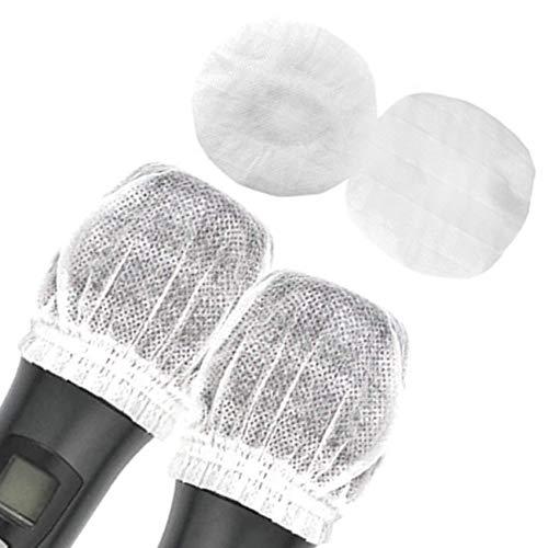 Fundas desechables para micrófono no tejidas para micrófono de mano,tapas protectoras para parabrisas para KTV (100 unidades, color negro,rojo,amarillo,blanco)