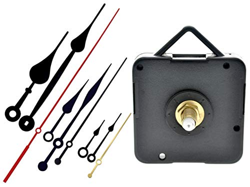 229 Mystic Quartz Wall Clock Step Movement Mechanism | 15 mm Threaded Shaft Length | DIY Replacement or Repair Parts | 3 Sets of Hands Included (Classic)