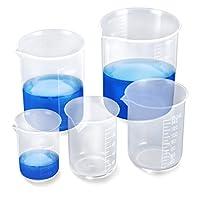 5 pcs misurini graduati trasparente dosatore misurino per misuratore liquidi laboratorio beaker 50ml 100ml 150ml 250ml 500ml