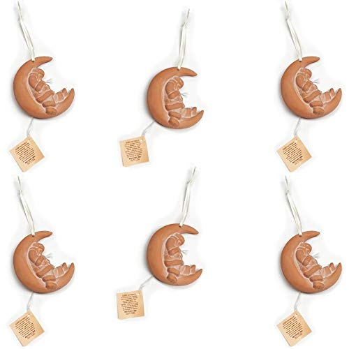 Sleepy Santa on the Moon - Aromatherapy Terracotta Christmas Collectible Essential Oil Diffusers (6 Pack)