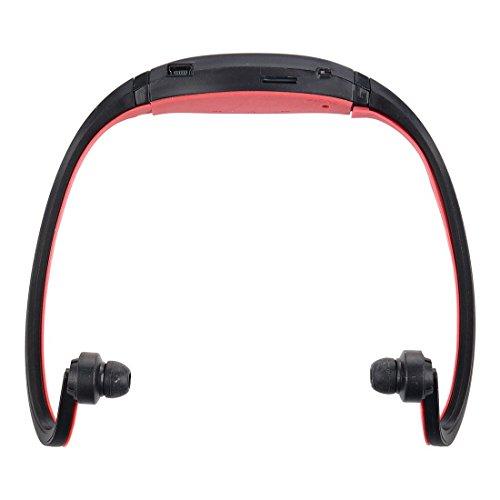 TOOGOO(R)) Negro+Rojo Deporte MP3 WMA Reproductor de Musica Ranura para Tarjeta SD TF/Micro Inalambrico Auriculares Manos Libres