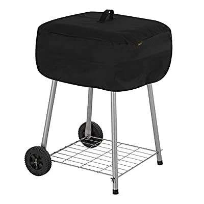 Modern Leisure 2974 Chalet Walk-A-Bout Charcoal Grill Cover (21.5 L x 21.5 D x 14.5 H inches) Water-Resistant, Black