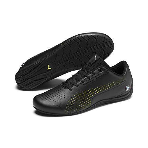 PUMA BMW M Motorsport Drift Cat Ultra 5 II Schuhe Puma Black-Fizzy Yellow UK 8_Adults_FR 42