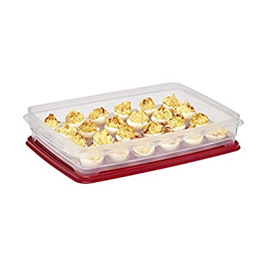 Buddeez 24-Egg Carrier Deviled Egg Tray with Lid